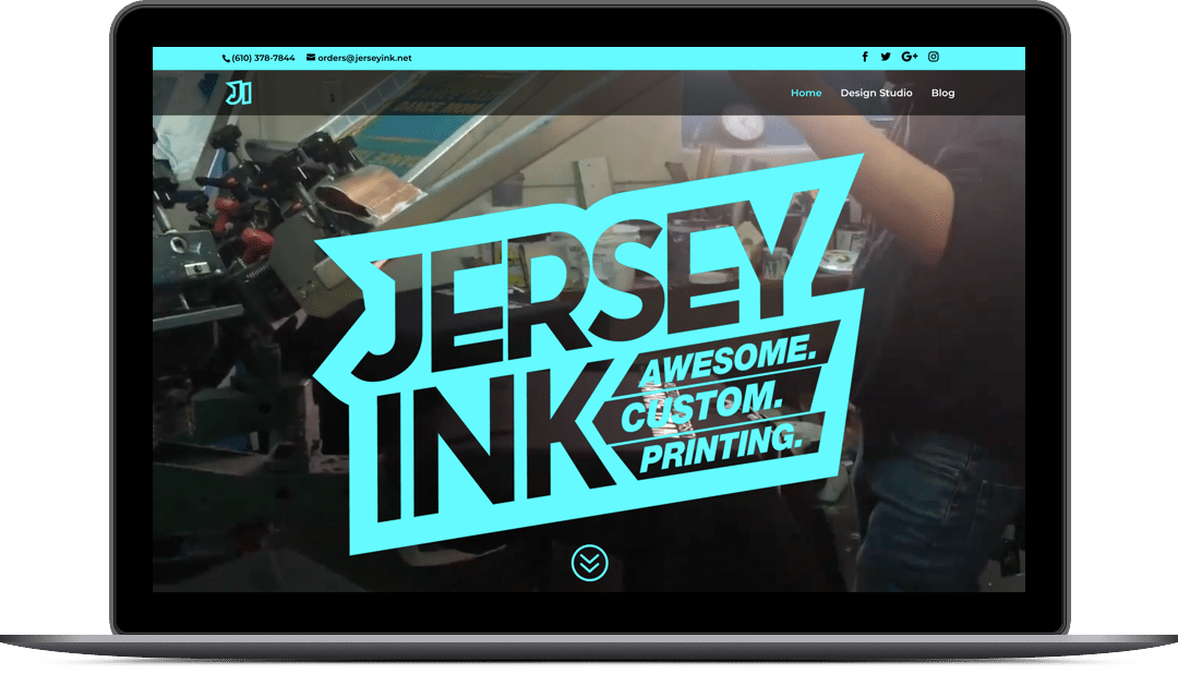 Jersey Ink Website Design