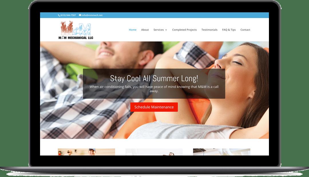 M&M Mechanical Website Design