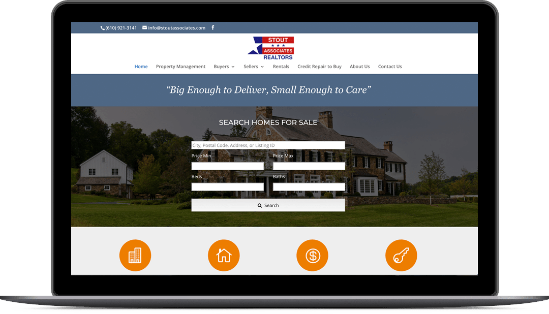 Stout Associates Website Design