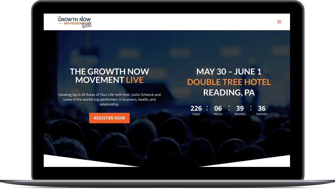 Growth Now Movement Live Website Design