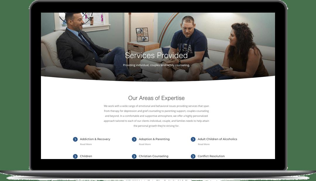 Safe & Sound Counseling Website Design