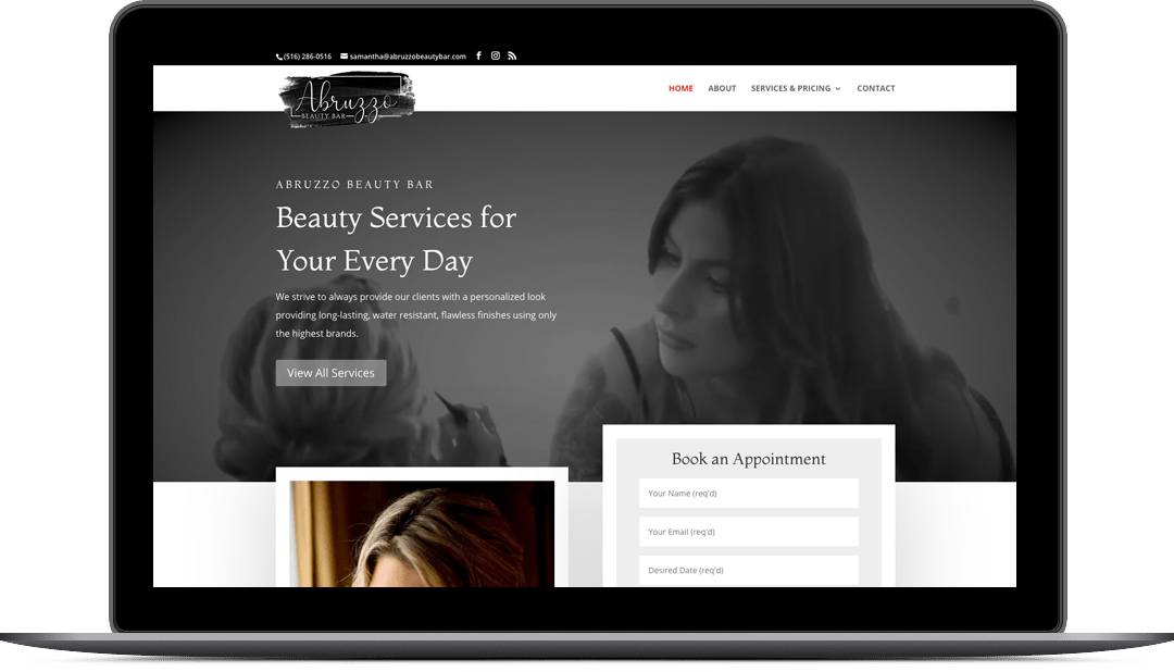 Abruzzo Beauty Bar Website