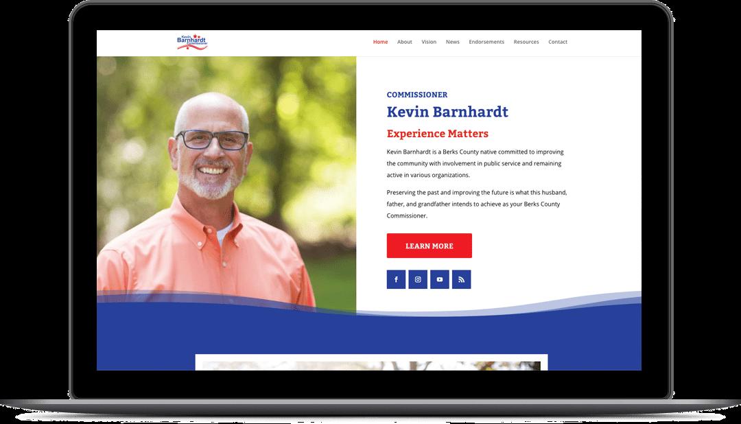 Comm'r Kevin Barnhardt Website Design