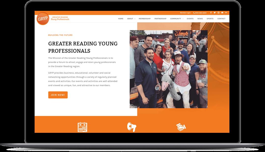 GRYP Website Design
