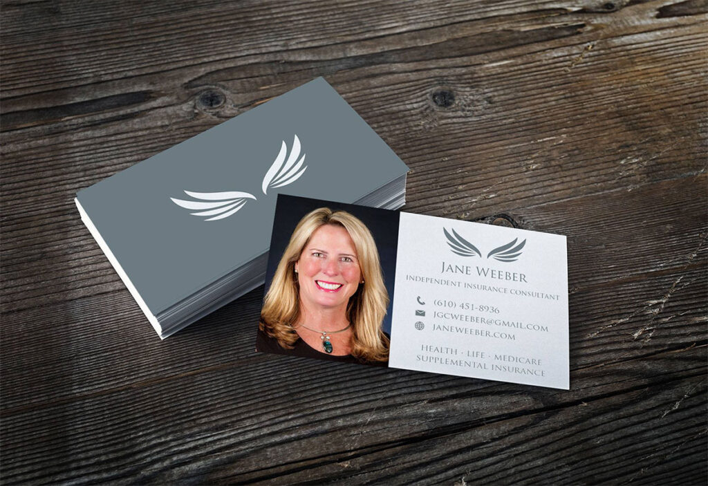 Jane Weeber Business Card Design